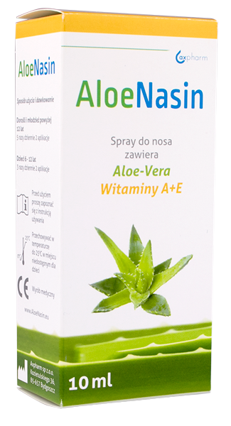 AloeNasin spray do nosa z wit A+E i Aloesem 10 ml